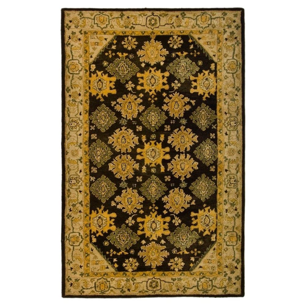 Brown/Ivory Abstract Loomed Area Rug - (8'X10') - Safavieh
