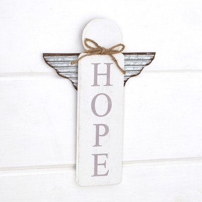 Lakeside Rustic Wooden Angel Wall Hanging Sign with Sentiment
