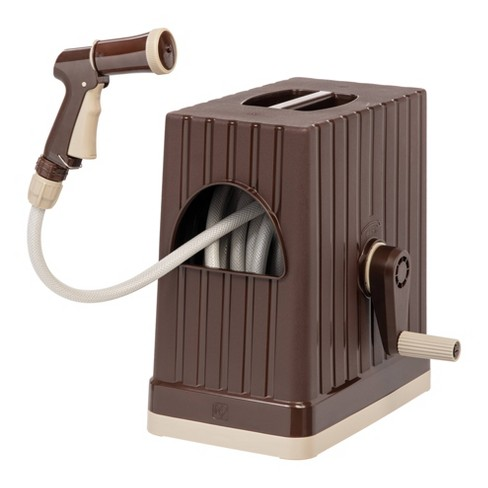 IRIS 66ft Hose Reel With Nozzle - Brown - image 1 of 4