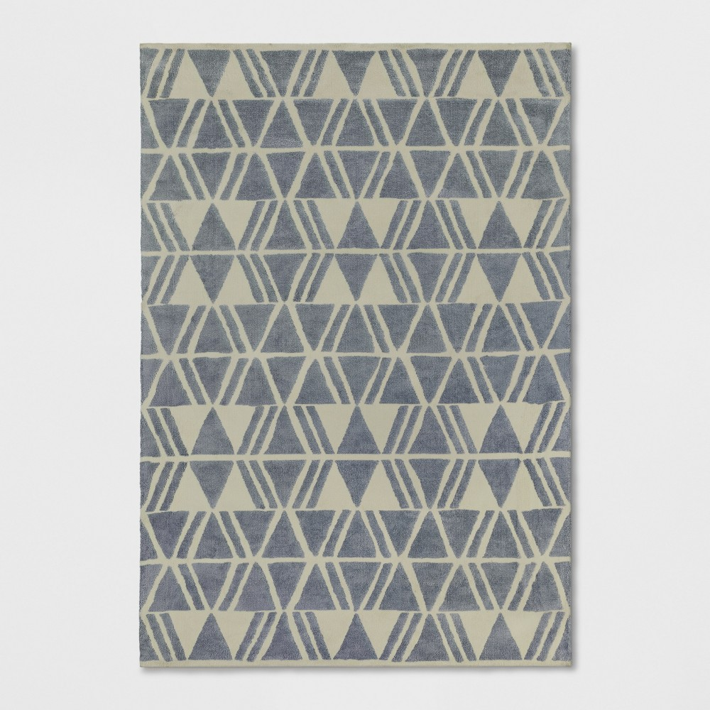 Light Gray Tribal Design Tufted Area Rug 7'X10' - Project 62
