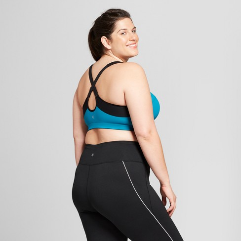 e293c71dba Women s Plus Size Motion Control Max Support Front Zip Sports Bra - C9  Champion® Mermaid Teal 42DD   Target