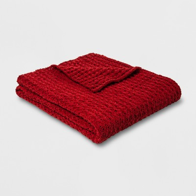 Chenille Throw Blanket Red - Threshold™