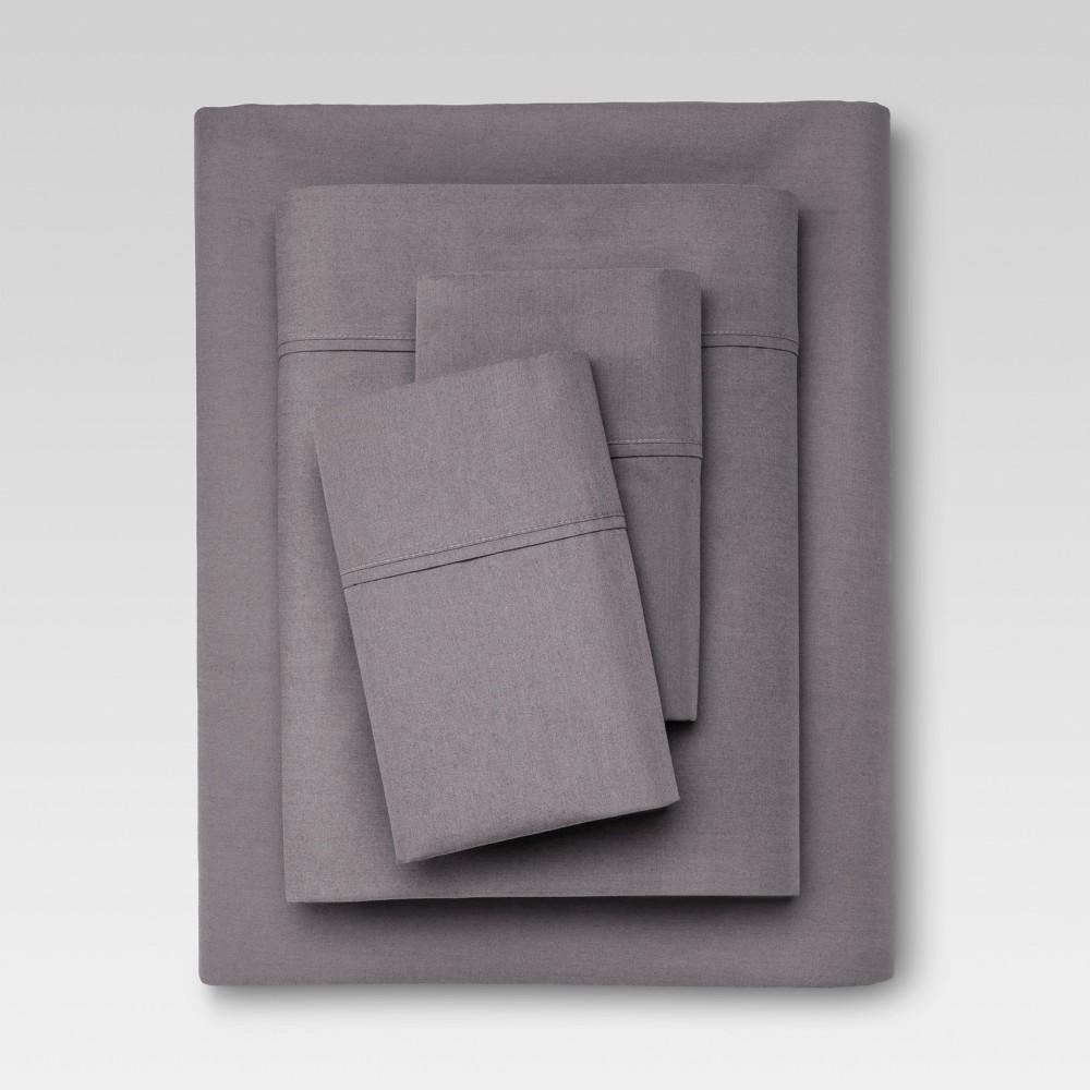 Organic Sheet Set (Twin) Gray 300 Thread Count - Threshold