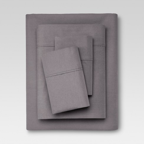 Organic Cotton Solid Sheet Set 300 Thread Count - Threshold™ - image 1 of 1