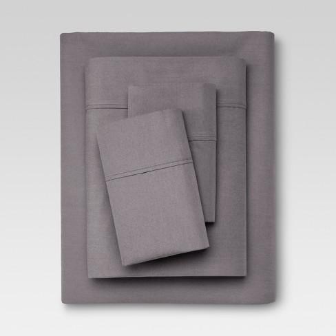 organic sheet set king gray 300 thread count threshold target