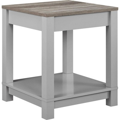 Paramount End Table Gray/Sonoma Oak - Room & Joy