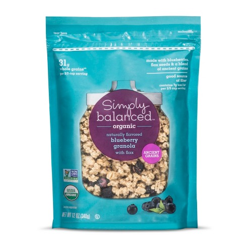 Organic Blueberry Granola with Flax - 12oz - Simply Balanced™ - image 1 of 1