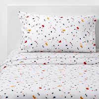 Target.com deals on Room Essentials Printed Microfiber Sheet Set Twin/Twin XL