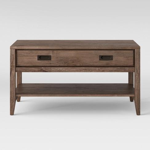 Millbury Rustic Wood Coffee Table Threshold