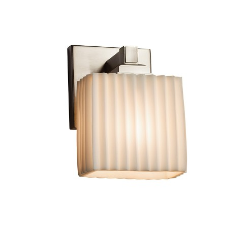 "Justice Design Group PNA-8437-55-PLET-LED1-700 Porcelina 5.5"" Regency 1 Light LED ADA Compliant Wall Sconce - image 1 of 2"