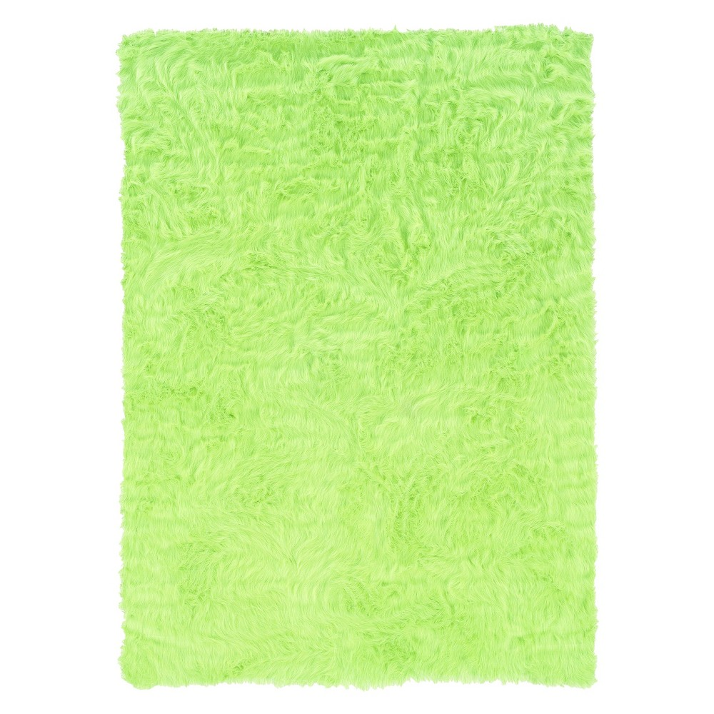 "Image of ""Faux Sheepskin Accent Rug - Green (22""""x34"""")"""