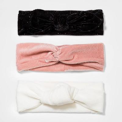 Toddler Girls' 3pk Headbands - Cat & Jack™ White/Black/Peach