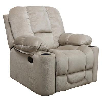 Gannon Glider Recliner Club Chair Latte Beige - Christopher Knight Home