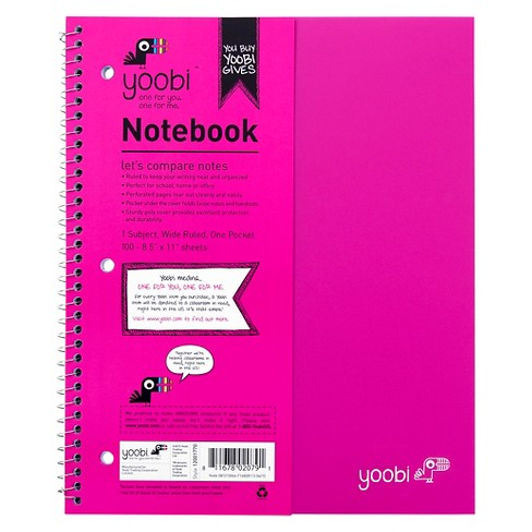 "Yoobi™ Spiral Notebook, Wide Ruled, 1 Subject, 8.5"" x 11"", 100 Sheets - image 1 of 3"