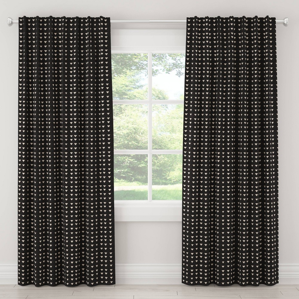 "Image of ""108"""" In Triangle Blackout Curtain Black - Cloth & Co., Size: 108"""""""