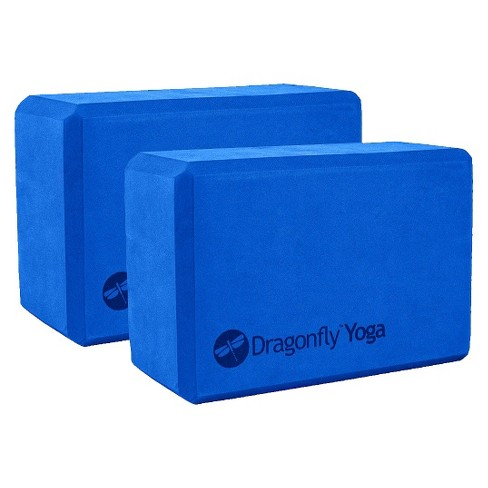 "Dragonfly Foam Yoga Block Pair - Blue (3"") - image 1 of 1"