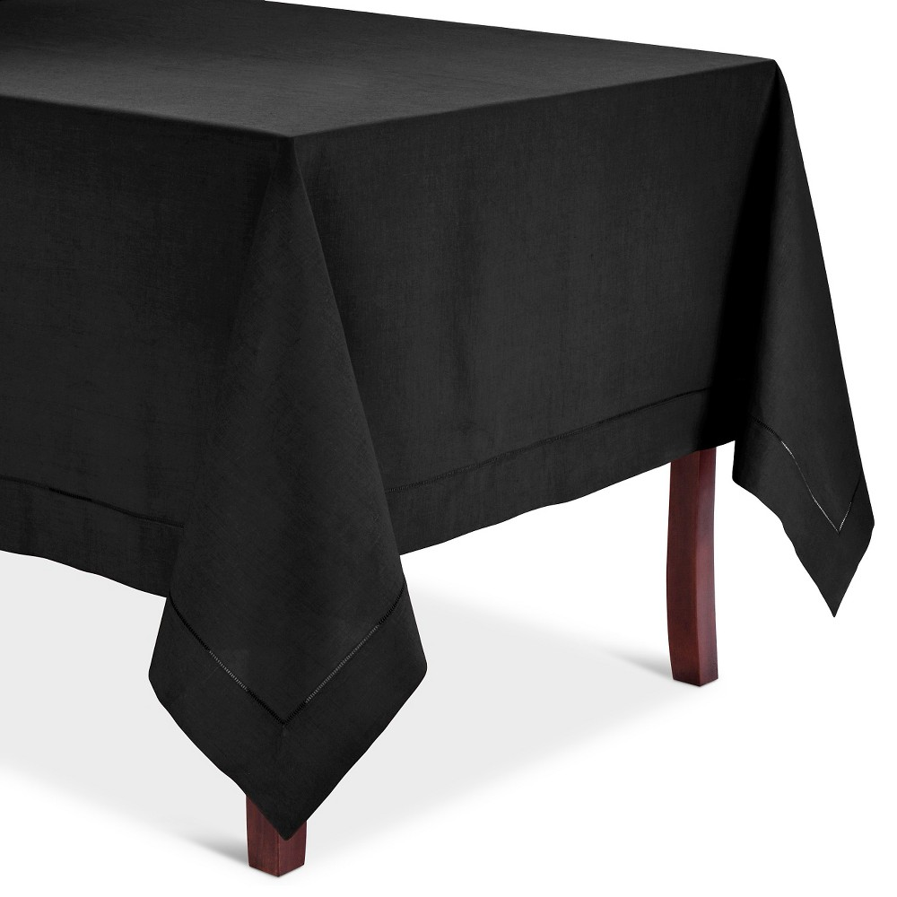 Hemstitched Tablecloth Black (65