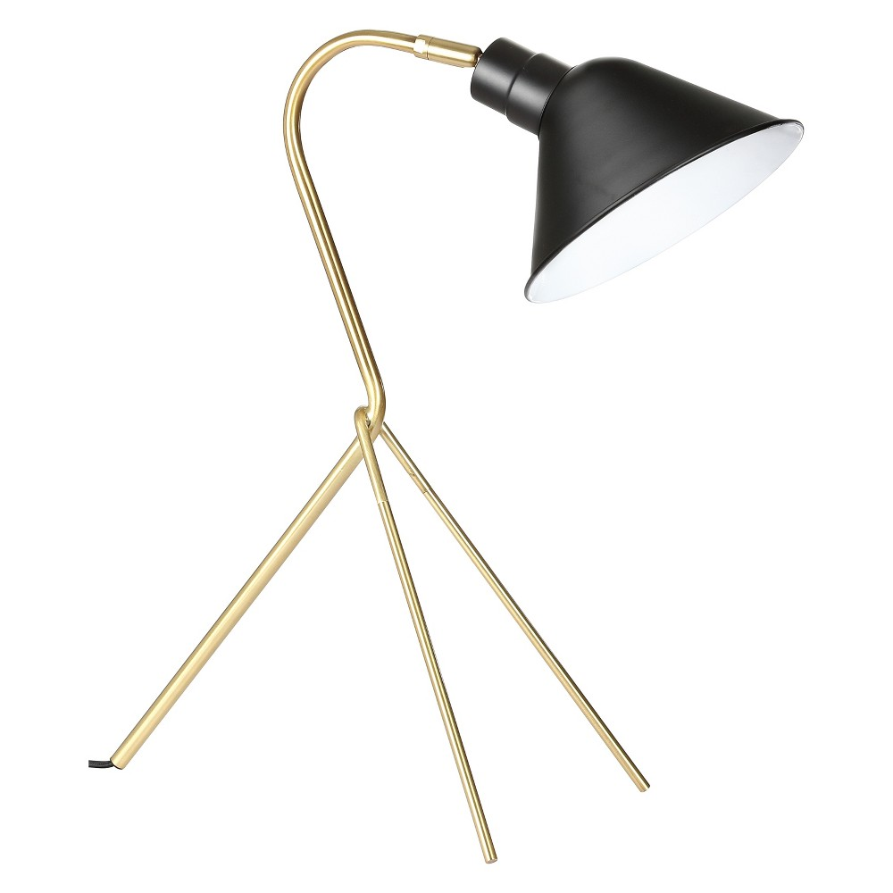 20.25 Mae Brass Led Task Lamp Brass (Includes Energy Efficient Light Bulb) - Jonathan Y