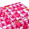 Skull Party Throw Blanket Pink - Betseyville - image 2 of 4
