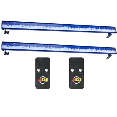 (2) American DJ Eco UV Bar Plus IR Pro LED Black Light Wash Fixtures w/ Remotes
