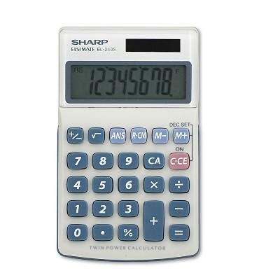 Sharp EL240SB Handheld Business Calculator 8-Digit LCD EL240SAB