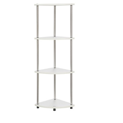 "48"" 4 Tier Corner Shelf White - Breighton Home"