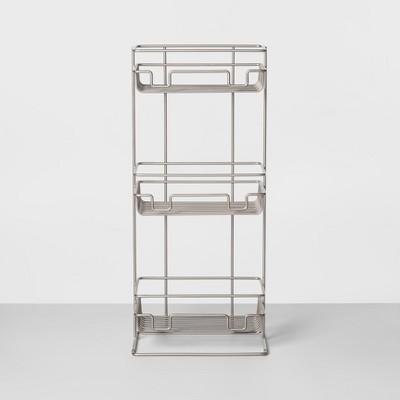 3 Tier Round Wire Shower Storage Tower Silver - Made By Design™