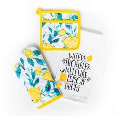 3pc Cotton New Lemon Kitchen Textile Set - Simply Whimsical