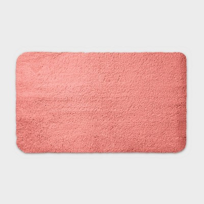 "20""x34"" Performance Nylon Bath Rug Coral - Threshold™"