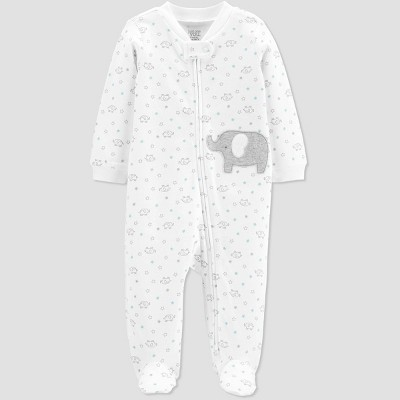 Baby Elephant One Piece Pajamas - Just One You® made by carter's White 9M