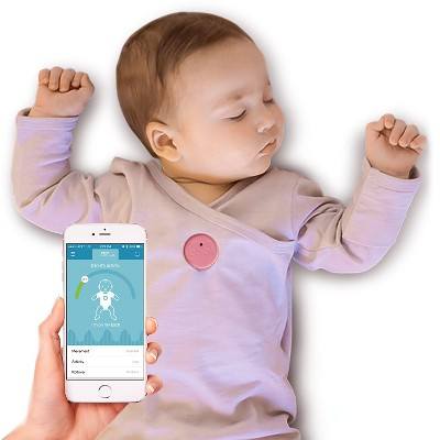MonBaby Smart Button Baby Monitor - Pink