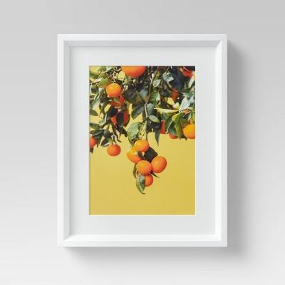 "12"" x 15"" Orange Tree Framed Wall Art - Threshold™"