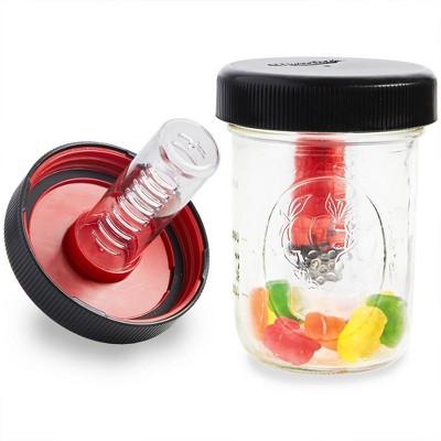 Masontops 2pk Jar Safe Child-Resistant Mason Jar Lids Wide Black