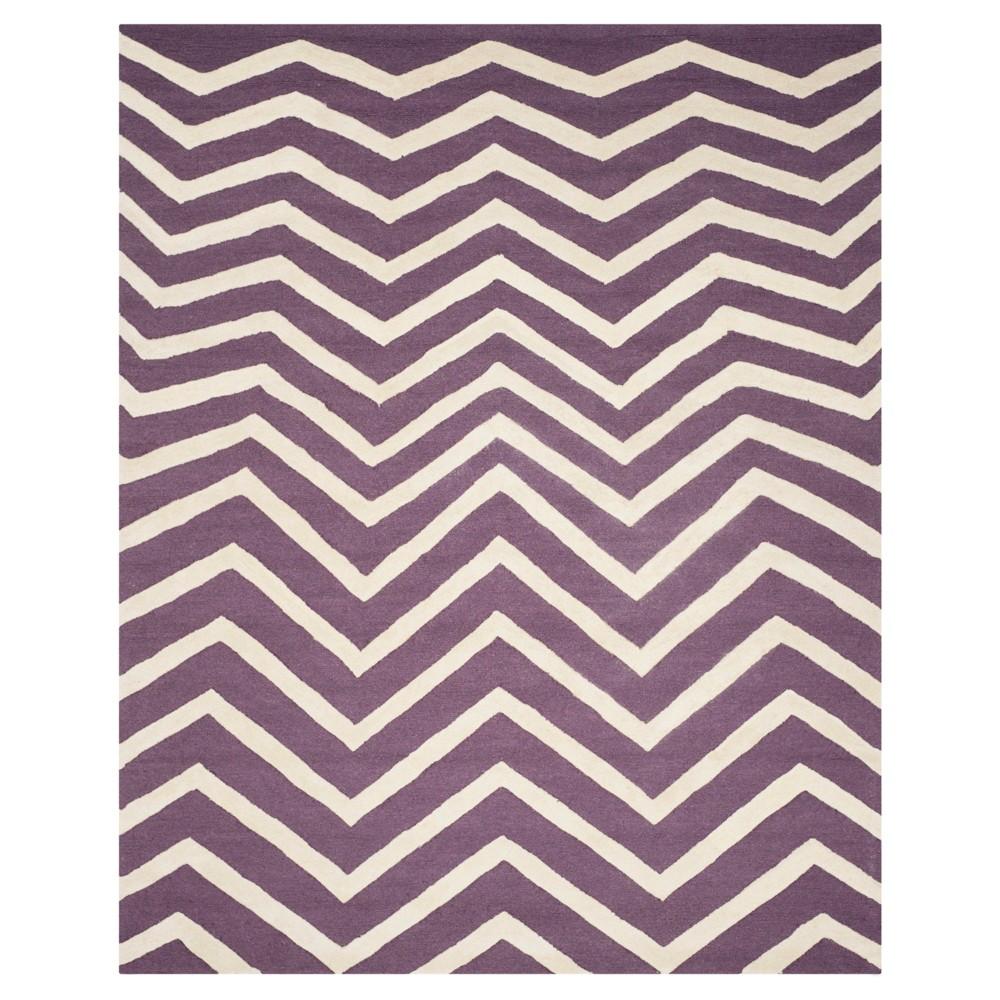 8'X10' Chevron Area Rug Purple/Ivory - Safavieh