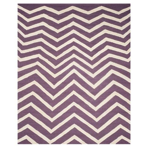 8'X10' Chevron Area Rug Purple/Ivory - Safavieh - image 1 of 3