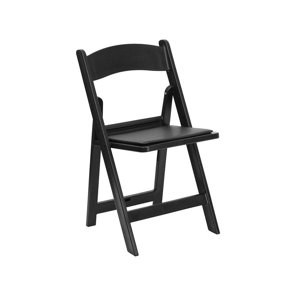 Riverstone Furniture Collection Resin Folding Chair Black