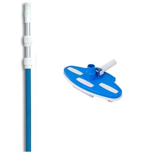 Pentair R201350 #193 Pool Vinyl Liner Vacuum Head Brush w/ 5-15' Telescopic Pole - image 1 of 3