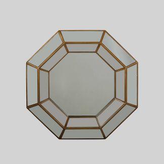 "34"" x 34"" Crider Modern Octagon Mirror Gold - Christopher Knight Home"