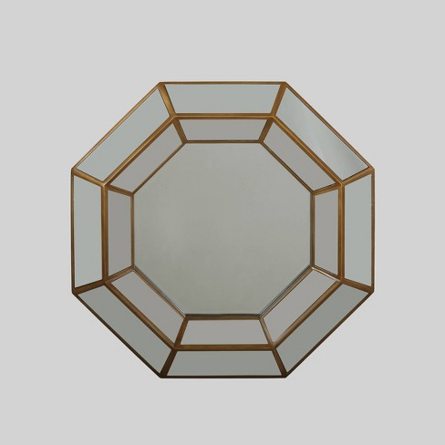 "34"" x 34"" Crider Modern Octagon Mirror Gold - Christopher Knight Home - image 1 of 4"