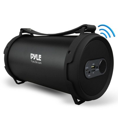 Pyle PBMSPG7 60 Watt Portable Bluetooth Wireless Indoor/Outdoor BoomBox Speaker Stereo Digital Sound Amplifier, Black