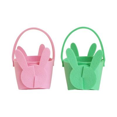 2pk Felt Origami Easter Basket Bunny Latch - Spritz™