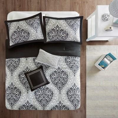 Black Chelsea Comforter Set (Full/Queen)5pc