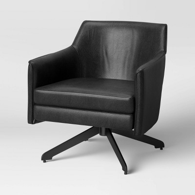 Albert Swivel Accent Chair with Metal Base - Project 62™