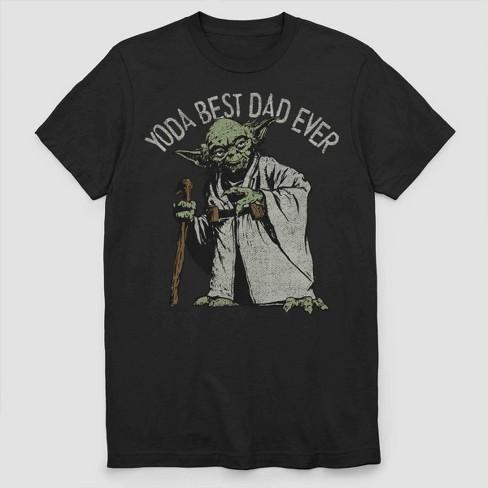 Men's Star Wars Yoda Best Dad Ever Short Sleeve Graphic T-Shirt - Black - image 1 of 2