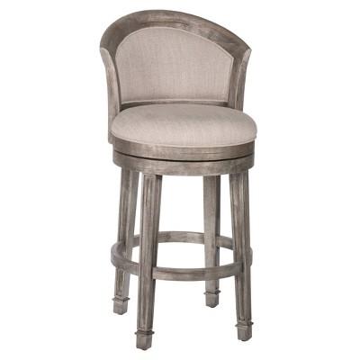 "36"" Monae Swivel Barstool Distressed Dark Gray/Woven Gray - Hillsdale Furniture"