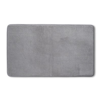 "20""x34"" Bubble Memory Foam Bath Rug Light Gray - Threshold™"