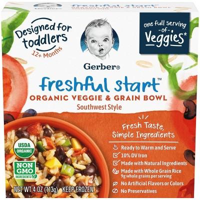 Gerber Freshful Start Frozen organic Veggie and Grain Bowl Southwest - 4oz