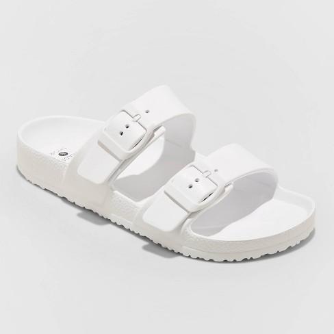 Women's Neida EVA Two Band Slide Sandals - Shade & Shore™ White 7 - image 1 of 3