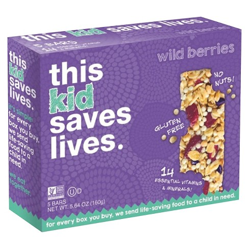 This Bar Saves Lives Mixed Berry Granola Bars - 5ct - image 1 of 4