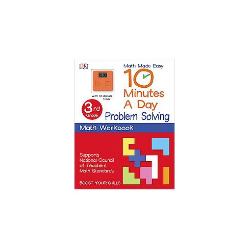 10 minutes a day problem solving 4th grade with 10 minute timer workbook paperback sean mcardle